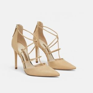 NWT Zara Strappy Heeled Shoes